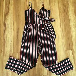 Derek Heart Stripe Jumpsuit
